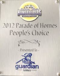 award winning home builder guardian