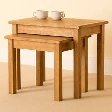 lanner oak nest of tables solid wood