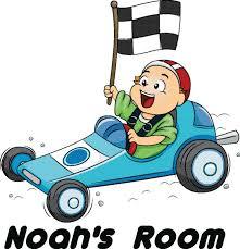 Personalized Name Vinyl Decal Sticker Custom Initial Wall Art Personalization Boy Bedroom Sport Race Car Cartoon Baby Nursery Room 12 X 14 Inches Walmart Com Walmart Com