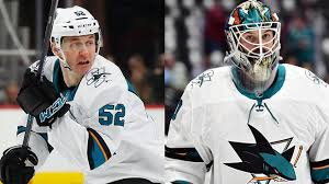 Sharks teammates Lukas Radil, Aaron Dell get into tussle before ...