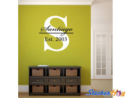 Big Letter Last Name Family Monogram Wall Vinyl Decal