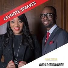 Bianca Miller-Cole and Byron Cole at The Business Show May 2019 - Bianca  Miller