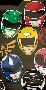 Power Rangers Helmet Vinyl Decal Etsy