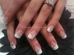 white tip acrylic nail designs