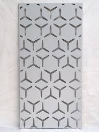 Decorative Metal Garden Screen Geometric Design 1200mm X 600mm X 1 6mm Flat Laser Cut Panel With Pre Drilled Fixing Holes Ghost White Amazon Co Uk Garden Outdoors
