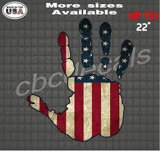 American Flag Hand Wave Dammit Vinyl Decal Sticker Window Etsy