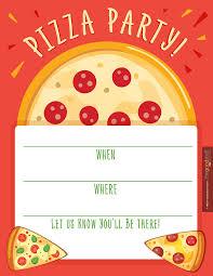 Hostess Helpers Free Pizza Party Printables Fiesta De Pizza