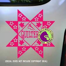 Quilter Quilting Vinyl Decal Sticker Gorilla Decals