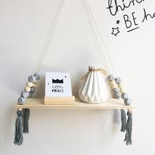2020 Home Wall Hanging Wooden Ornaments Nordic Beads Board Hanging Storage Shelf Kids Room Nursery Home Wall Decor From Huayama 20 60 Dhgate Com