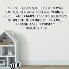 1 Timothy 4v12 Vinyl Wall Decal 3 Let No One Think Less Of You