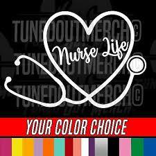 H178 Scrub Life Heartbeat Stethoscope Doctor Nurse Vinyl Decal Car Sticker 3 99 Picclick