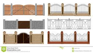 Metal Fences And Gates In Flat Style Simple Illustration Web Site Page And Mobile App Design Stock Illustration Illustration Of Icon Border 103741172