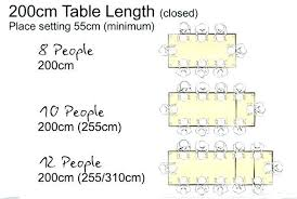 tables kitchen sizes dimensions