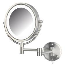 led lighted wall makeup mirror
