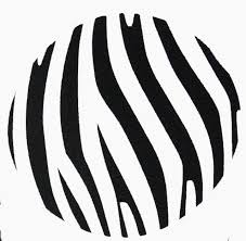Zebra Print Dots Wall Decal Stickers 8pc Large