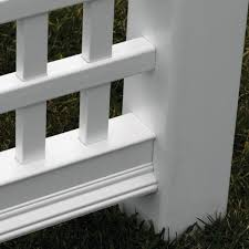 New England Arbors 5 In X 5 In X 30 In White Vinyl Arbor Post Extension Kit 4 Pack Va80250 The Home Depot