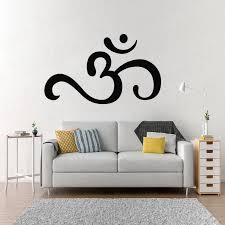 Om Wall Art Sticker For Bedroom Buddhism Symbol Modern Spiritual Room Decor Wall Decals Removable Living Room Decal Wl1700 Wall Stickers Aliexpress
