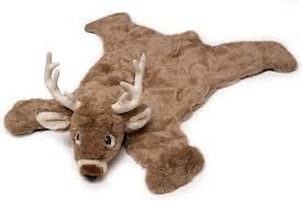 Amazon Com Carstens Plush White Tail Deer Animal Rug Small Home Kitchen