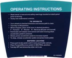 Operating Instructions Decal