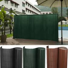 Pvc Fencing Privacy Fence Bamboo Slat Panel Roll Fixing Kits Cover Strips Garden Ebay