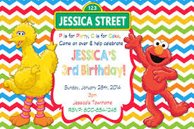 Elmo Sesame Street Birthday Party Invitations Elmo Cumpleanos Y