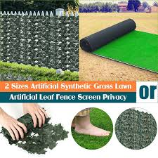 Artificial Leaf Fence Screen Privacy Plant Leaves Wall Hedge Grass Synthetic Grass Artificial Turf Fake Lawn Outdoor Wish