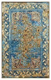 angeles area rug distressed medallion
