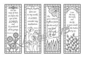 Bible Verse Coloring Bookmarks Instant Download Kleurplaten