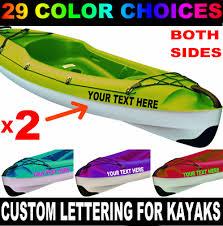 2 Custom Kayak Boat Name Vinyl Lettering Decal For Canoe Sticker 3 X 20 Pair Ebay