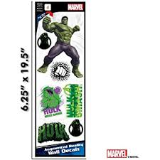 Amazon Com Marvel Avengers Hulk Augmented Reality Small Wall Decal Peel Stick Removable Vinyl 7 Stickers Kitchen Dining