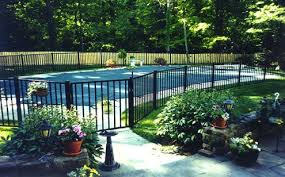Safety Pool Fence Ideas For Your Homes Backyard Pool Landscaping Pool Landscaping Backyard