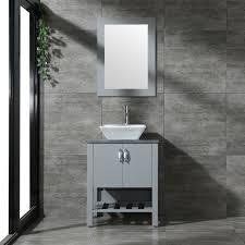 24 bathroom vanity wood cabinet single