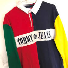 tommy jeans color block primary rugby