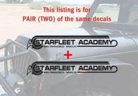 Buy Pair Fender Trek Starfleet Academy Enterprise Spock Space Decal Car Vinyl Sticker
