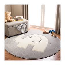 Ellie Elephant Kids Rug Grey Beige Home Decor Rugs Maisonette
