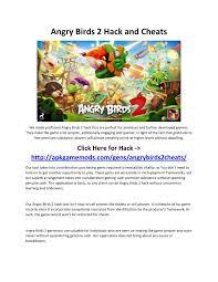 Angry Birds 2 Hack and Cheats for Android and iOS