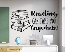 Reading Wall Decal Etsy