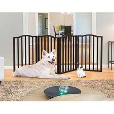 Petmaker Wooden Pet Gate Tall Freestanding 4 Panel Indoor Barrier Fence Foldable With Decorative Arches For Dogs Puppies
