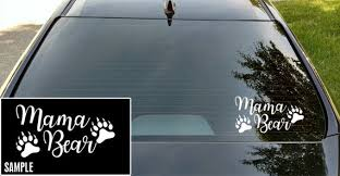 Mama Bear Decal Mama Bear Sticker Mama Bear Written Vinyl Etsy