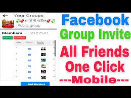 to invite all friends on facebook group