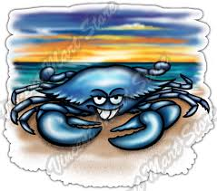 Blue Crab Sunset Beach Ocean Sea Paradise Car Bumper Vinyl Sticker Decal 4 6 For Sale Online Ebay