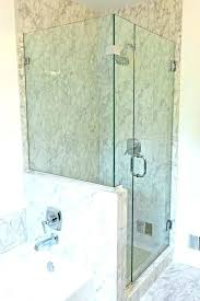 wall glass shower panel bathrooms block