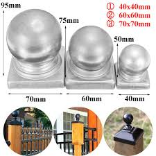 60x60mm 2 4x2 4 Silver Metal Round Ball Fence Finial Post Cap Protect For Square Posts Lazada Ph