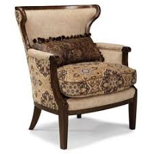 Cheap A.R.T. Furniture 513514-5101AA Ava Adele Wood Trim Accent Chair in  Rustic Walnut/Melange Beige - Best Living Room Accent