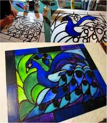 diy easy faux stained glass do it