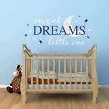 Sweet Dreams Little One Wall Decal Nursery Decal Dream Wall Sticker Extra Large With Images Nursery Wall Decals Nursery Wall Decals Boy Nursery Decals
