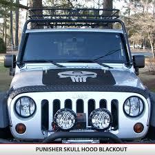 Punisher Skull Vinyl Decal Jeep Blackout Hood Vinyl Decal Alphavinyl