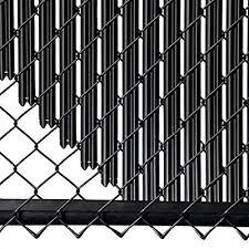 Amazon Com 4ft Black Ridged Slats For Chain Link Fence Garden Outdoor Black Chain Link Fence Chain Link Fence Chain Link Fence Privacy