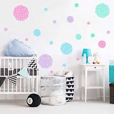 Amazon Com Blooming Flower Wall Decal Fireworks Wall Sticker Girls Room Vinyl Wall Art Stickers Baby Nursery Decor Arts Crafts Sewing