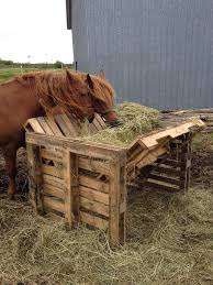 Horse Feeder Made From Old Pallets Hay Feeder For Horses Horse Feeder Horse Shelter
